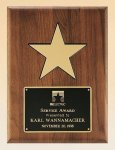 American Walnut Plaque with 5 Gold Star Star Awards