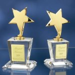 Brass Stars with Crystal Bases Star Awards