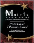 Red Marble Shooting Star Acrylic Award Recognition Plaque Star Plaques