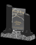 Pillars and glass Stone Plaque Awards