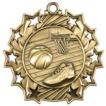 Basketball Ten Star Medal Ten Star Medal Awards