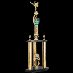 Two Tier Customized Trophy -Martial Arts Two Tier Trophies