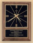 American Walnut Vertical Wall Clock with Square Face. Wall Clock Plaques