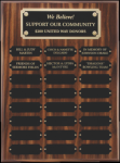 Perpetual Plaque Assembled with Black Plates Winner's Choice Catalog