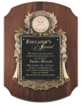 Walnut Cast Corporate Scalloped Plaque Winner's Choice Catalog