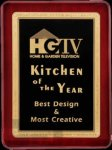 R1055 - Rosewood High Polish Finish Plaque / Gold Border Winner's Choice Catalog