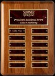 R1204 - Radius Corner Perpetual Plaque Winner's Choice Catalog