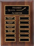 R1064 - Genuine Walnut Plaque - 12 Plates Winner's Choice Catalog