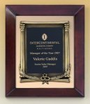 Cherry Finish Wood Frame Plaque with Wreath Wood Cast Awards