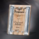 Maple Deco Stripe Wood Metal Accent Awards