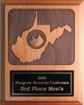 WV Lasered Plaque WV Theme Awards