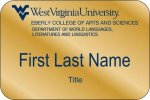 Eberly Department of World Languages WVU Nametags