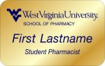 School of Pharmacy - Student Pharmacist Class of WVU Nametags