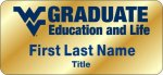 Graduate Education & Life WVU Nametags
