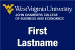 John Chambers College Business & Economics WVU Nametags