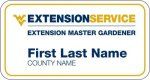 Master Gardeners Volunteer or 10 Years WVU Nametags