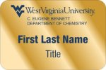 Eberly Dept. of Chemistry WVU Nametags