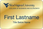 College of Business and Economics WVU Nametags