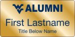 Alumni Association WVU Nametags